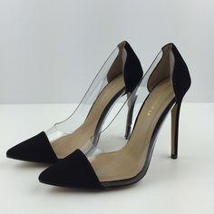 """▪HPx2️Oh So Fabulous Black▪️ Brand new, Pointed toe pumps. Size 7 1/2. Heel height is 5"""" All man made materials.NO TRADES ▪️PRICE IS FIRM▪️ Shoes Heels"""