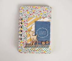 "Mini album ""loved"" by laeti. Cartes de Project Life & Bind it all"