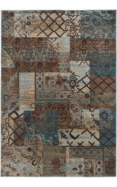 $5 Off when you share! Rizzy Rugs Bellevue BV3698 Multi Rug | Traditional Rugs #RugsUSA