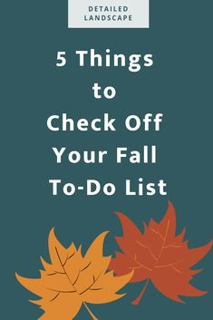 fall to-do list | fall landscaping Fall Lawn Care, Landscape, Scenery, Corner Landscaping