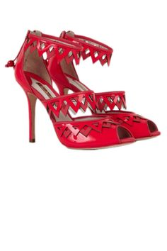 Sophia Webster Red 'Frida' Sandals $595 Spring 2013  #Shoes #Heels