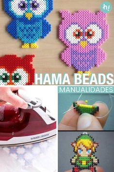 Hama Beads: qué son y qué puedes hacer con ellas ➜ Conoce la historia de este tradicional sistema de cuentas. ¡Y pilla ideas!  #Hama #Beads #Cuentas #Manualidades #Original #Handfie Hama Beads, Pillos, Crochet Hats, Diy, Patterns, The Originals, Ideas, Bead Patterns, Drawing Things