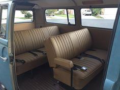 1970 passenger interior Vintage Volkswagen Bus, Volkswagen Bus Interior, Kombi Interior, Volkswagen Westfalia, Custom Car Interior, Kombi Motorhome, Bus Camper, T2 T3, Kombi Home