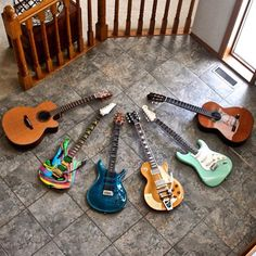 An enviable guitar collection from @vintagetone_ #guitarspotter #prs #ibanez #gibson #fender