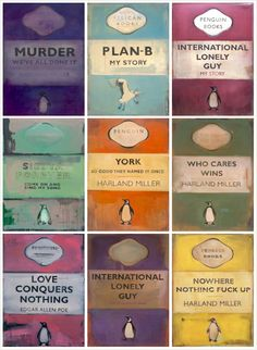 artwork harland miller - large-scale penguin classics-inspired paintings