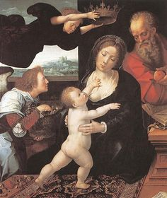 Holy Family.Van Orley.1522.Museo del Prado.Madrid.