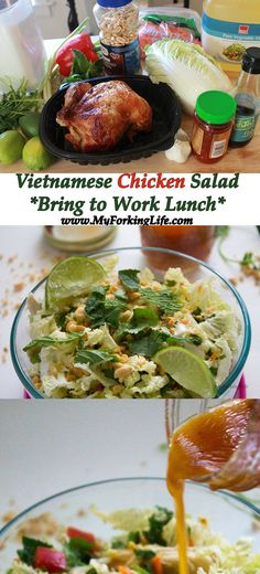 Vietnamese Chicken Salad Recipe, perfect bring your lunch to work idea. Recipe…