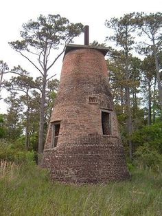 Price Creek lighthouse: the last of of eight lighthouses that were built to mark the passageway along the Cape Fear River. The eight lighthouses illuminated the 25-mile stretch of the Cape Fear River between Oak Island and Wilmington.  For more info: http://www.southporttimes.com/featured/2007091001.html
