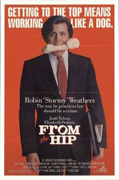 "From the Hip 1987 Authentic 27"" x 41"" Original Movie Poster John Hurt Drama U.S. One Sheet"