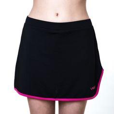 Falda de padel Vairo Colmuns, color negro ideal para jugar al padel cómoda y ligera.  http://www.winpadel.com/ropa-de-padel/falda-de-padel-vairo-columns