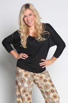 Fall and Winter Pajamas for Women | Clothing on Sale | Pajamas On Sale Made by Women - PUNJAMMIES by International Princess Project - DARJEELING Dolman- Black
