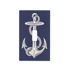 Nautical Anchor Light Switch Plate
