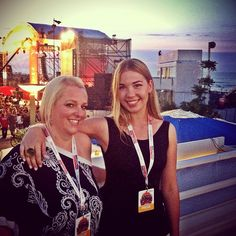 """""""Me & @nicolawesseling at World Ducati Week press area for dinner & concert"""" by @ourtastytravels"""