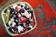 Looking for the best Rice and Beans recipes? Get recipes like Hoppin' John, Coconut Rice and Beans and Easy Black Beans and Rice from Simply Recipes. Best Side Dishes, Side Dish Recipes, Rice Recipes, Vegan Recipes, Cooking Recipes, Cooking Time, Recipies, Easy Black Beans And Rice Recipe, Black Bean Recipes