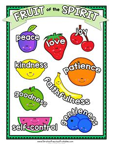 Fruit of the spirit goodness unit 6 worksheets and for Fruit of the spirit goodness craft
