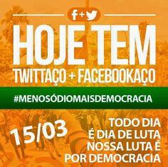 Blog do Eduardo Nino : Hoje Tem Twittaço + Facebookaço #MenosÓdioMaisDemo...