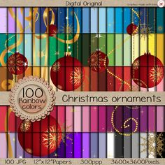 "Sale-100 Digital papers ""MEGA pack"" /Christmas ornaments / 300 ppi  / instant download. de LilyColor.etsy.coml #digitalpaper #papelesdigitales #printables #descargainmediata #scrapbooking #digitalpaper #craft #digitaldocuments #patterns #backgrounds #etsy #instantdownload #printable #clipart"