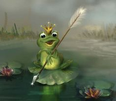 """Photo from album """"Царевна-Лягушка"""" on Yandex. Funny Frogs, Cute Frogs, Animation, Frosch Illustration, Frog Pictures, Frog Art, Autumn Scenes, Frog And Toad, Gif Animé"""