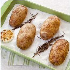 Salt101.com - Salt-Baked Potatoes with Roasted Garlic and Rosemary Butter
