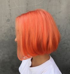 Peach orange hair. Pulp riot and olaplex