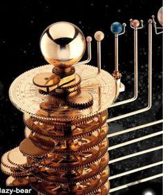 Beautiful Planetarium Brass Orrery Solar System Model Tellurian   eBay