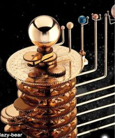 Beautiful Planetarium Brass Orrery Solar System Model Tellurian | eBay