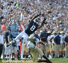 Allen Robinson in the air for the catch! Penn State vs. Navy on Sept. 15, 2012