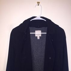 Black Hooded Maxi Coat Pristine Condition Black Full Length Anne Klein Jacket. This Jacket Is Hooded And Has Two Layers For Extra Warmth! Jacket Is A Size 8! Anne Klein Jackets & Coats Pea Coats