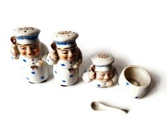 Vintage Salt Pepper and Mustard Salt and Pepper French Chefs
