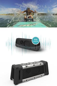 FUGOO Waterproof speakers! The World's most rugged bluetooth speaker. 100% waterproof, mud-proof, snow-proof and shockproof with 40 hours of battery life.