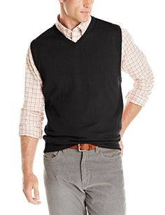 Wool Overs Men's Lambswool V Neck Button Sweater Vest Charcoal ...