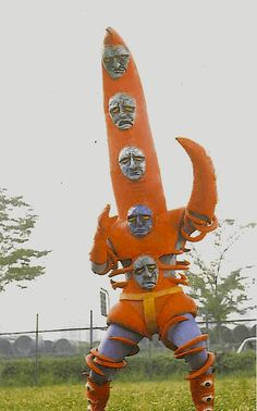 Weird Tokusatsu Monsters (and where to find them) John Hill, Japanese Superheroes, Japanese Monster, Japanese Costume, Creepy, Scary, Monster Design, Retro Futurism, Character Design Inspiration