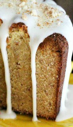 Banana Cream Cheese Pound Cake....