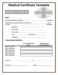 Fake Doctors Note Template Notes Printable Certificates Certificate Templates