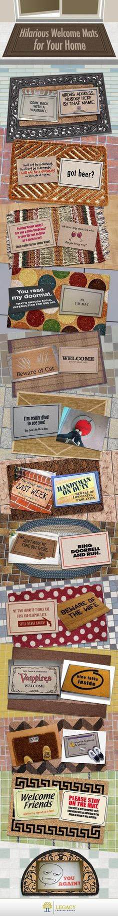 Hilarious Welcome Mats for Your New Home