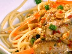 Cilantro Chicken and Spicy Thai Noodles from FoodNetwork.com