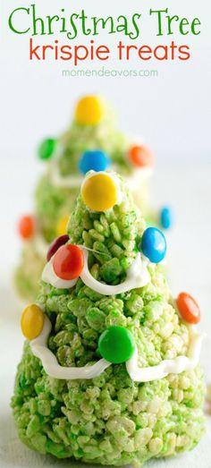 Christmas Tree Krispie Treats