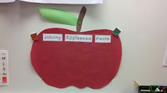 Our Johnny Appleseed Anchor Chart! Too cute!