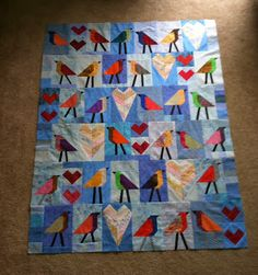 I have been going back and forth on projects. With a day off from work, it was time to sew bird blocks together and make a center. Rig...