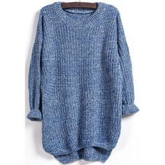 Blue Knitwear, one-size Blue.