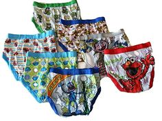 Sesame Street Big Boys' 7 Pack-Boy -4T   Sesame Street Big Boys' 7 Pack-Boy -4T Lucky number seven. He'll have a full week's worth of underwear with these Elmo briefs. In white/multi.  http://www.beststreetstyle.com/sesame-street-big-boys-7-pack-boy-4t/
