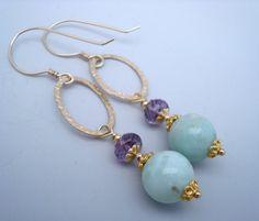 Bridesmaid gift idea - larimar earrings