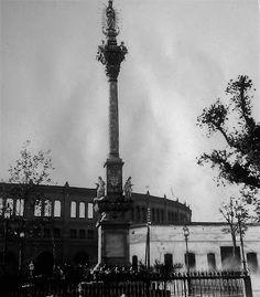 Inmaculada del Triunfo y antigua Plaza de Toros. (1890) Actual Plaza de la Libertad.
