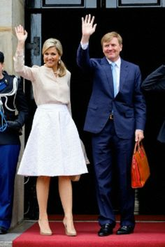 King Willem-Alexander and Queen Maxima of the Netherlands attend a meeting with modern artists at the Royal Palace in Amsterdam, The Netherlands, 04.06.2014.