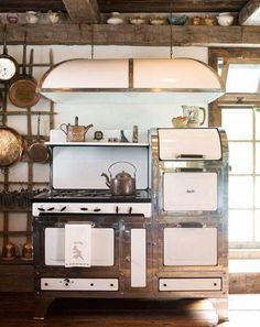 A beautiful retro rustic kitchen for my farm house.