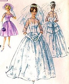 Simplicity 4892 Misses' Wedding Dress and Formal Gown Sewing Pattern Vintage 1950s Bridal Gown, Prom, Party Simplicity http://www.amazon.com/dp/B00D2T6QQI/ref=cm_sw_r_pi_dp_o0ODwb19KX9KC