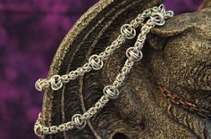 Aluminum Byzantine and Barrel Necklace N100 by InvertedAura, $55.00