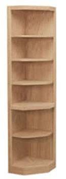 Traditional Corner End Bookcase, available in Maple & Oak  http://www.groffsfurnishings.com/ Doylestown PA