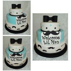 Lil Man(Mustache) Cake