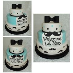 Perfect Mustache Cake. Would Use This As A Birthday Cake Mustache On Top And Bowtie  Around Middle Of Tier.